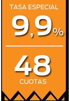 Tasa Especial 9,9% - 48 Cuotas