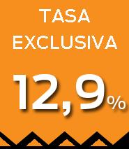 Tasa 12,9%
