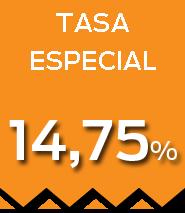 Tasa 14,75%